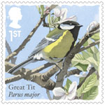 Songbirds 1st Stamp (2017) Great Tit