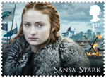 Game of Thrones 1st Stamp (2018) Sansa Stark