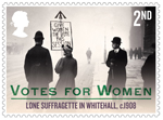 Votes For Women 2nd Stamp (2018) Lone Suffragette in Whitehall, c.1908
