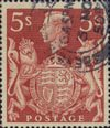 Definitives 5s Stamp (1939) Red