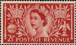 Coronation 2.5d Stamp (1953) Queen Elizabeth II