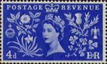 Coronation 4d Stamp (1953) Queen Elizabeth II