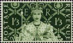 Coronation 1s3d Stamp (1953) Queen Elizabeth II