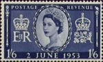 Coronation 1s6d Stamp (1953) Queen Elizabeth II