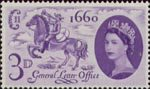Tercentenary of Establishment of 'General Letter Office' 3d Stamp (1960) Postboy of 1660