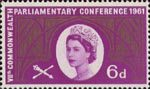 Seventh Commonwealth Parliamentary Conference 6d Stamp (1961) Hammer Beam Roof, Westminster Hall