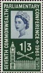 Seventh Commonwealth Parliamentary Conference 1s3d Stamp (1961) Palace of Westminster