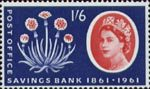 Centenary of Post Office Savings Bank 1s6d Stamp (1961) Thrift Plant