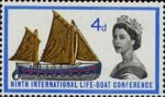 Ninth International Lifeboat Conference, Edinburgh 4d Stamp (1963) 19th-century Lifeboat