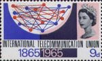 I.T.U. Centenary 9d Stamp (1965) Telecommunications Network
