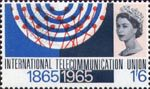 I.T.U. Centenary 1s6d Stamp (1965) Radio Waves and Switchboard