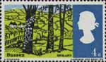 Landscapes 4d Stamp (1966) View near Hassocks, Sussex