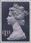 High Value Definitives 1977-1987 £1.33 Stamp (1977) pale mauve and grey black