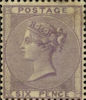 Definitive 6d Stamp (1856) Lilac