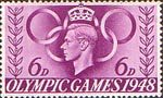 Olympic Games 6d Stamp (1948) Olympic Speed