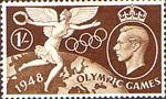 Olympic Games 1s Stamp (1948) Winged Victory