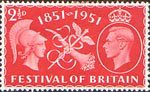 Festival of Britain 2.5d Stamp (1951) Commerce and Prosperity