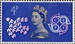 European Postal and Telecommunications (CEPT) Conference, Torquay 4d Stamp (1961) Doves and Emblem