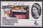 20th International Geographical Congress, London 4d Stamp (1964) Shipbuilding Yards, Belfast ('Industrial Activity')