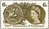 700th Anniversary of Simon de Montfort's Parliament 6d Stamp (1965) Simon de Montfort's Seal