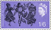 Commonwealth Arts Festival 1s6d Stamp (1965) Canadian Folk Dancers