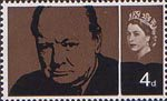 Churchill Commemoration 4d Stamp (1965) Sir Winston Churchill
