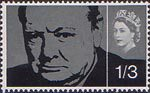 Churchill Commemoration 1s3d Stamp (1965) Sir Winston Churchill