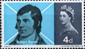 Burns Commemoration 4d Stamp (1966) Robert Burns (after Skirving chalk drawing)