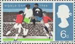 World Cup Football Championship 6d Stamp (1966) Goalmouth Melee