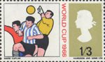 World Cup Football Championship 1s3d Stamp (1966) Goalkeeper saving Goal