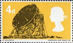 British Technology 4d Stamp (1966) Jodrell Bank Radio Telescope