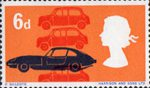 British Technology 6d Stamp (1966) British Motor-cars