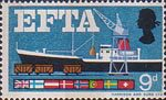 European Free Trade Association (EFTA) 9d Stamp (1967) Sea Freight