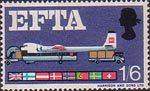 European Free Trade Association (EFTA) 1s6d Stamp (1967) Air Freight
