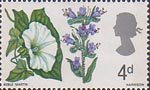 British Flora 4d Stamp (1967) Larger Bindweed and Viper's Bugloss