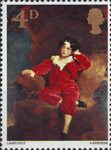 British Painters 4d Stamp (1967) 'Master Lambton' (Sir Thomas Lawrence)