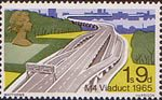 British Bridges 1s9d Stamp (1968) M4 Viaduct