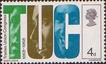 British Anniversaries 4d Stamp (1968) 'TUC' and Trade Unionists