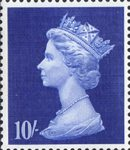 High Value Definitives 10s Stamp (1969) Sapphire Blue