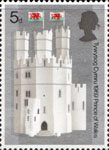 Investure of H.R.H. The Prince of Wales 5d Stamp (1969) The Eagle Tower, Caernarvon Castle