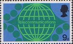 British Post Office Technology 9d Stamp (1969) Telecommunications - International Subscriber Dialing
