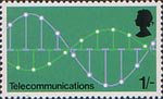 British Post Office Technology 1s Stamp (1969) Telecommunications - Pulse Code Modulation