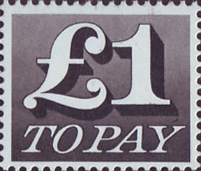 Decimal To Pay Labels Postage Due 1970 1975 1970