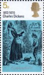 Literary Anniversaries 5d Stamp (1970) 'David Copperfield and Betsy Trotwood' (David Copperfield)