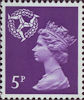 Regional Definitive - Isle of Man 5p Stamp (1971) Purple