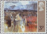 Ulster '71 Paintings 3p Stamp (1971) 'A Mountain Road' (T.P.Flanagan)