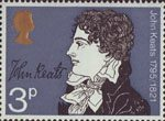 Literary Anniversaries 3p Stamp (1971) John Keats (150th Death Anniversary)