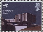 Modern University Buildings 9p Stamp (1971) Hexagon Restaurant, Essex University