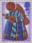 Christmas 1972 3p Stamp (1972) Angel playing Lute