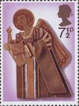 Christmas 1972 7.5p Stamp (1972) Angel playing Harp